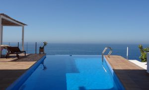 Infinity pool on the cliffs at La Herradura on the Costa Tropical