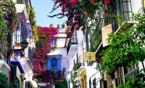Marbella's Old Town is a maze of flower-filled streets. Marcus and Gabby's house is just round the corner